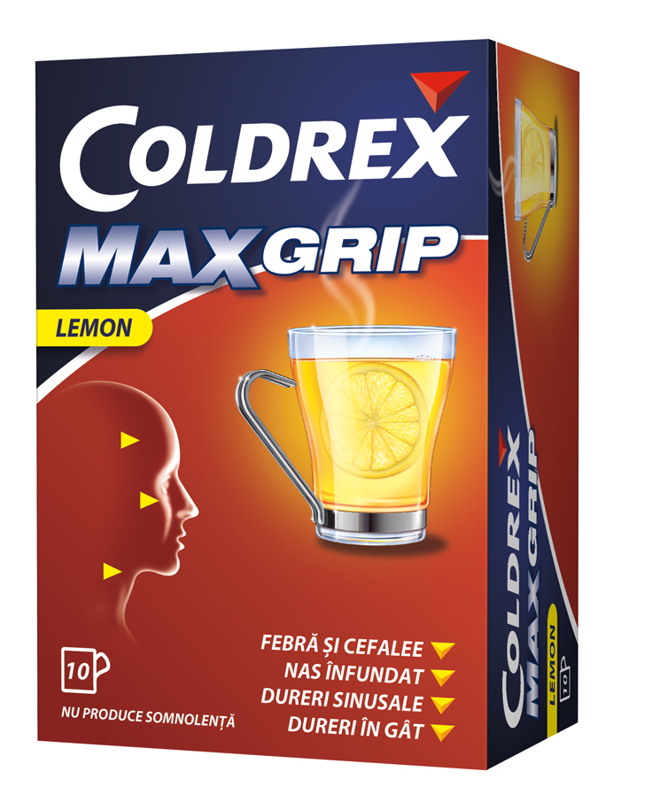 Coldrex MaxGrip Lemon x 10 plicuri