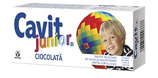 Cavit junior ciocolata x 20 tablete